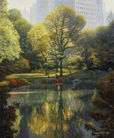 Reflection Of The Park Fine-Art Print
