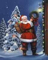 Santa Wreath Fine-Art Print