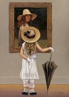 Girl In Museum Fine-Art Print