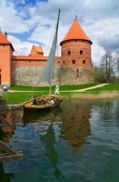 Island Castle by Lake Galve, Trakai, Lithuania I Fine-Art Print