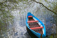 Canoe on Lake, Trakai, Lithuania Fine-Art Print