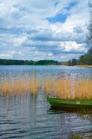 Colorful Canoe by Lake, Trakai, Lithuania II Fine-Art Print