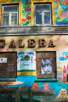 Colorfully Painted Wall in the Old Town, Vilnius, Lithuania Fine-Art Print
