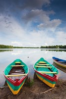 Lake Luka, Trakai Historical National Park, Trakai, Lithuania Fine-Art Print