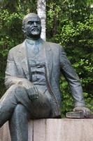 Lithuania, Grutas Park, Statue of Lenin III Fine-Art Print