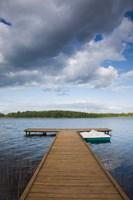Lithuania, Grutas, lake and pier Fine-Art Print