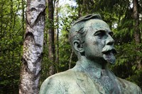 Lithuania, Grutas, Statue of Mickevicius-Kapsukas Fine-Art Print
