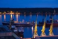 Lithuania, Klaipeda, Commercial port and Lagoon Fine-Art Print