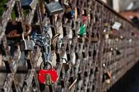Lithuania, Vilnius, Footbridge, Lovers' Locks Fine-Art Print