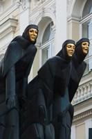 Lithuania, Vilnius, Three Muses statue Fine-Art Print