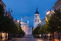 Lithuania, Vilnius, Vilnius Cathedral, evening Fine-Art Print