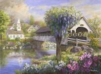 Picturesque Covered Bridge Fine-Art Print