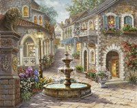 Cobblestone Fountain Fine-Art Print