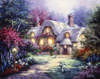 Garden Cottage Fine-Art Print