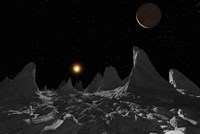 Ice spires on Jupiter's large Moon, Callisto Fine-Art Print