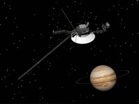 Voyager Spacecraft near Jupiter Fine-Art Print