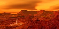 Panorama of a landscape on Venus at 700 degress Fahrenheit Fine-Art Print
