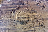 The impact of an Asteroid or comet in the Sahara Desert Fine-Art Print