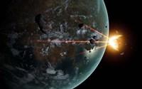 A Laser Anti-Asteroid Defense System Fine-Art Print