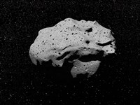 Asteroid in Outer Space Fine-Art Print