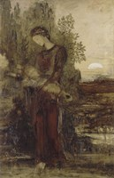 Young Thracian Girl Holding The Head Of Orpheus Fine-Art Print