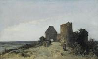 Ruins Of The Chateau De Rosemont, Nievre, 1861 Fine-Art Print