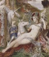 The Unicorns, 1885 Fine-Art Print