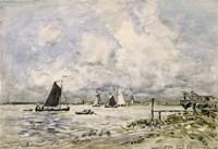 A Pier On The Scheldt, 1866 Fine-Art Print