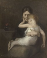 The Sick Child (Madame Eugene Carriere and Son Leon), 1885 Fine-Art Print