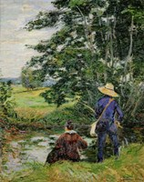 The Anglers, c. 1885 Fine-Art Print