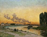 Sunset At Ivry, 1874 Fine-Art Print
