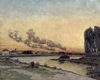 Sunset At Ivry, 1878 Fine-Art Print