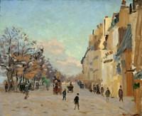 Quai De La Gare, Snow, 1880 Fine-Art Print