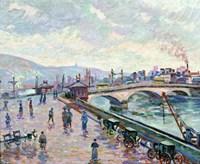 The Seine-River At Rouen Fine-Art Print