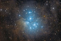The Pleiades, an open star cluster in the Constellation of Taurus Fine-Art Print