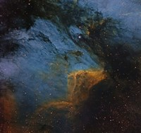 The Pelican Nebula, an H II region in the Constellation Cygnus Fine-Art Print