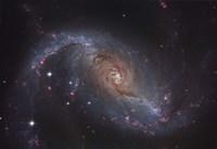 Barred spiral galaxy NGC 1672 in the Constellation Dorado Fine-Art Print