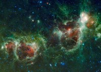 Infrared mosaic of the Heart and Soul nebulae in the Constellation Cassiopeia Fine-Art Print