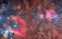 Widefield view of Orion Nebula and Horsehead Nebula Fine-Art Print