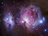 M42, the Orion Nebula (top), and NGC 1977, a reflection Nebula (bottom) Fine-Art Print