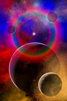 New planets and solar systems forming within a Gaseous Nebula Fine-Art Print
