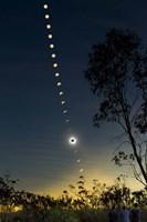 Solar Eclipse composite, Queensland, Australia II Fine-Art Print