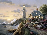 Lighthouse Cottage Fine-Art Print