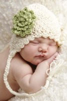 Baby In White And Green Flower Fine-Art Print