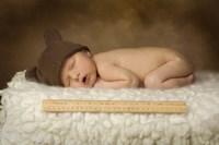 Cox Ii Baby With Ruler Fine-Art Print