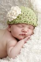 Baby In Green On White II Fine-Art Print