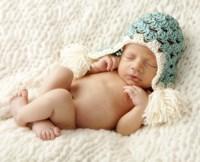 Baby In Light Blue Cap Fine-Art Print