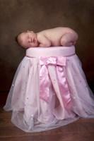 Baby On Pink Sparkle Seat Fine-Art Print