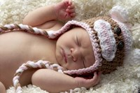 Baby Knit Monkey Hat Fine-Art Print