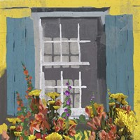 Window Floral I Fine-Art Print